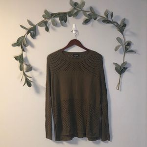 Topshop Green Tunic Sweater
